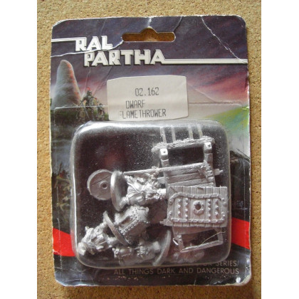 Dwarf Flame Thrower (blister de figurines Fantasy Ral Partha) 001