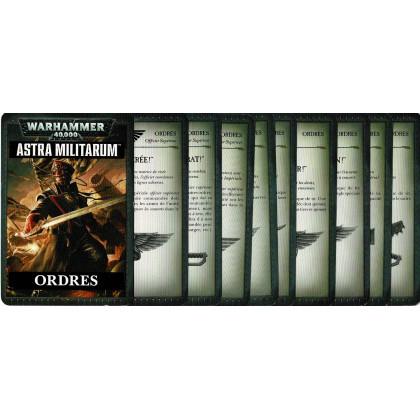 Cartes Ordres - Astra Militarum (jeu figurines Warhammer 40,000 en VF) 001
