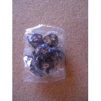 Set de 7 dés nacrés violets de jeux de rôles (accessoire de jdr)