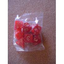 Set de 7 dés nacrés rouges de jeux de rôles (accessoire de jdr)