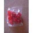 Set de 7 dés nacrés rouges de jeux de rôles (accessoire de jdr) 003M