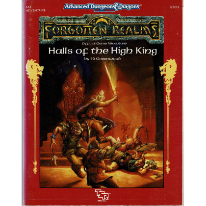 FA1 Halls of the High King (jdr AD&D 2nd édition - Forgotten Realms en VO) 001