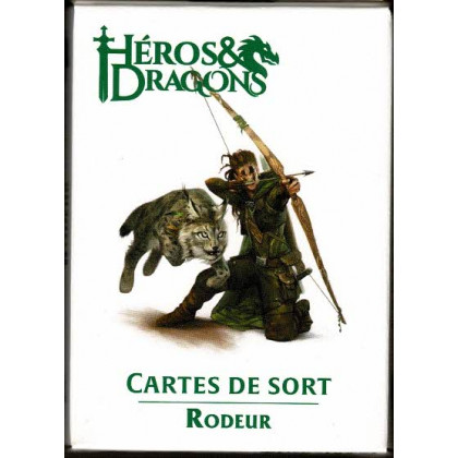 Héros & Dragons - Cartes de sort de Rôdeur (jdr de Black Book en VF) 005