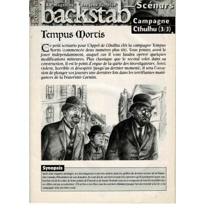 Backstab N° 27 - Encart de scénarios (le magazine des jeux de rôles) 001