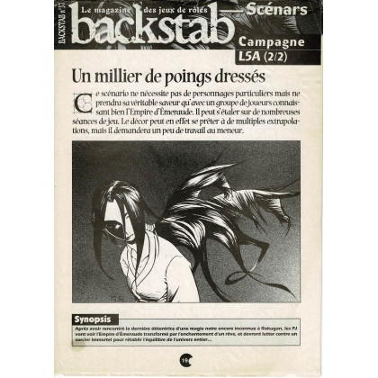 Backstab N° 37 - Encart de scénarios (le magazine des jeux de rôles) 001