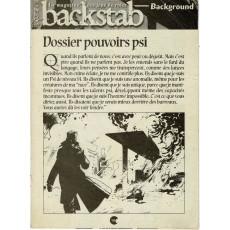 Backstab N° 38 - Encart de scénarios (le magazine des jeux de rôles)