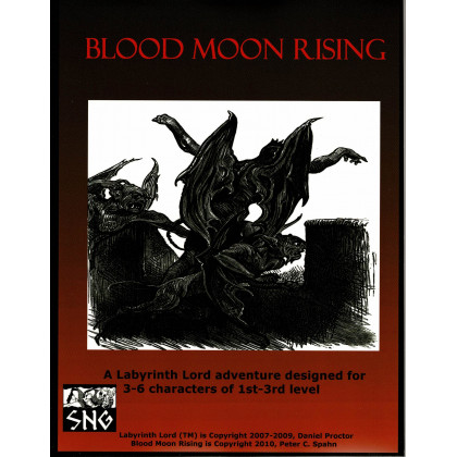 Labyrinth Lord - Blood Moon Rising (jdr OSR en VO) 001