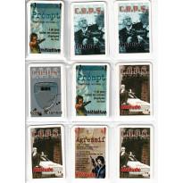 C.O.P.S. - Lot de cartes d'Initiative et d'Attitude (jdr Siroz Editions en VF)