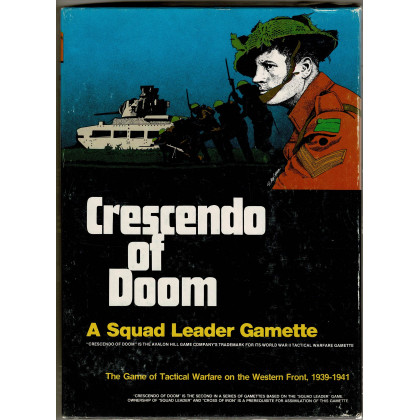 Crescendo of Doom - A Squad Leader Gamette (wargame Avalon Hill en VO) 001