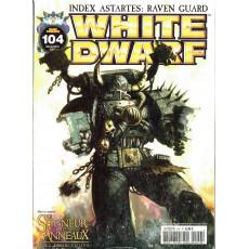 White Dwarf N° 104 (magazine de jeux de figurines Games Workshop en VF)