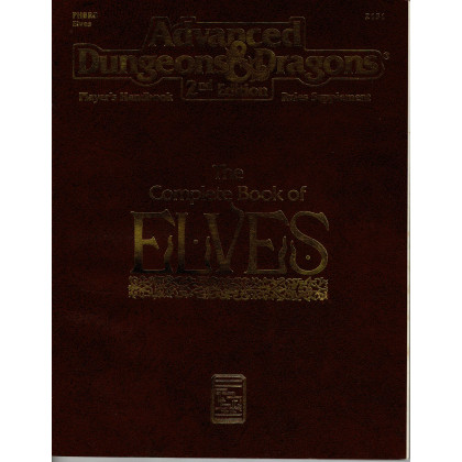 PHBR8 The Complete Book of Elves (jdr AD&D 2e édition en VO) 001