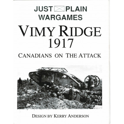 Vimy Ridge 1917 - Canadians on the Attack (Wargame de Pacific Rim Publishing en VO) 001