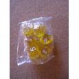 Set de 7 dés transparents jaunes de jeux de rôles (accessoire de jdr) 003H
