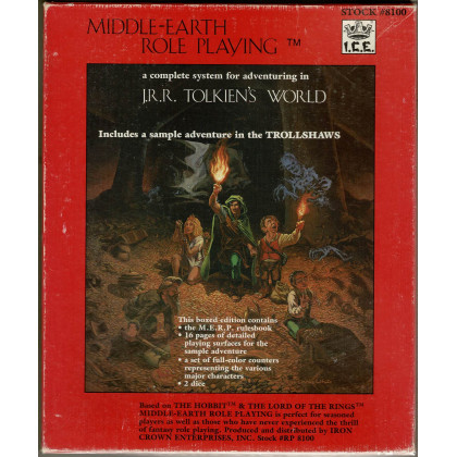 Middle-Earth Role Playing - Boîte de base (jdr 1ère édition de Iron Crown Enterprises en VO) 001