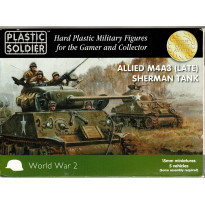Allied M4A3 (Late) Sherman Tank (boîte figurines 15mm Plastic Soldier en VO)
