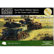 Allied Stuart M5A1 Tank (boîte figurines 15mm Plastic Soldier en VO) 001