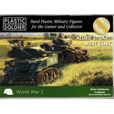 Allied Stuart M5A1 Tank (boîte figurines 15mm Plastic Soldier en VO)