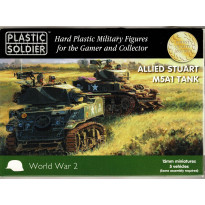 Allied Stuart M5A1 Tank (boîte figurines 15mm Plastic Soldier en VO)