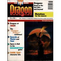 Dragon Magazine N° 194 (magazine de jeux de rôle en VO) 003