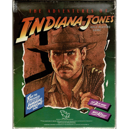 The Adventures of Indiana Jones Role-Playing Game (jdr boîte de base de TSR en VO) 001