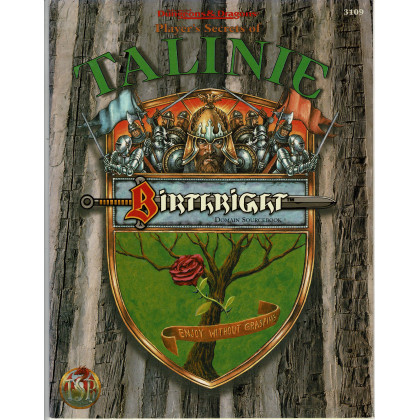 Birthright - Player's Secrets of Talinie (jdr AD&D 2e édition en VO) 001