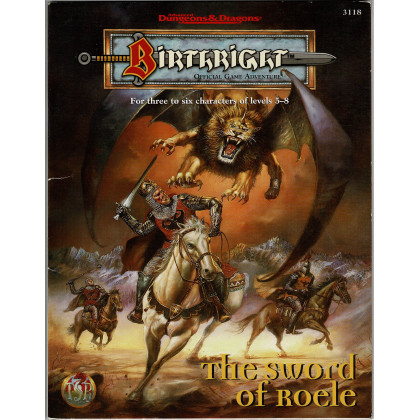 Birthright - The sword of Roele (jdr AD&D 2e édition en VO) 001
