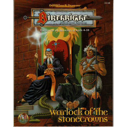 Birthright - Warlock of the Stonecrows (jdr AD&D 2e édition en VO) 001