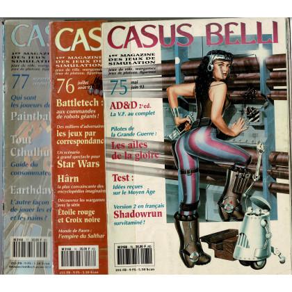 Lot Casus Belli N° 75-76-77 sans encarts (magazines de jeux de rôle) L113