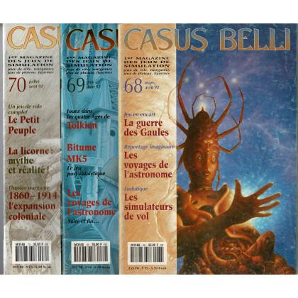 Lot Casus Belli N° 68-69-70 sans encarts (magazines de jeux de rôle) L114