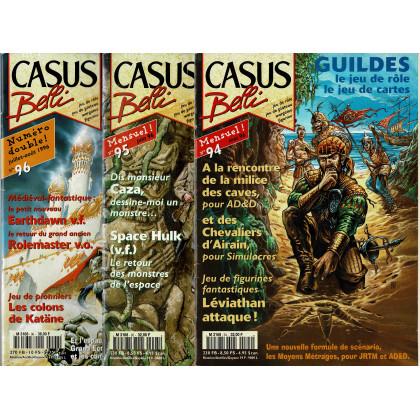 Lot Casus Belli N° 94-95-96 sans encarts (magazines de jeux de rôle) L115