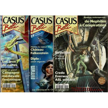 Lot Casus Belli N° 85-89-90 sans encarts (magazines de jeux de rôle) L117