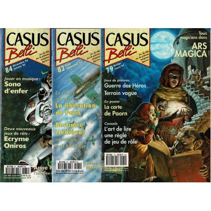 Lot Casus Belli N° 79-82-84 sans encarts (magazines de jeux de rôle) L118