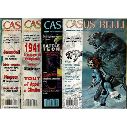 Lot Casus Belli N° 45-51-54-58 sans encarts (magazines de jeux de rôle) L120
