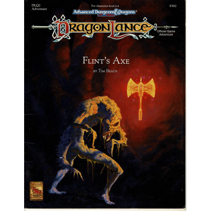 Dragonlance - DLQ2 Flint's Axe (jdr AD&D 2e édition en VO) 003