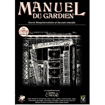Manuel du Gardien (jdr L'Appel de Cthulhu 5e édition en VF) 002