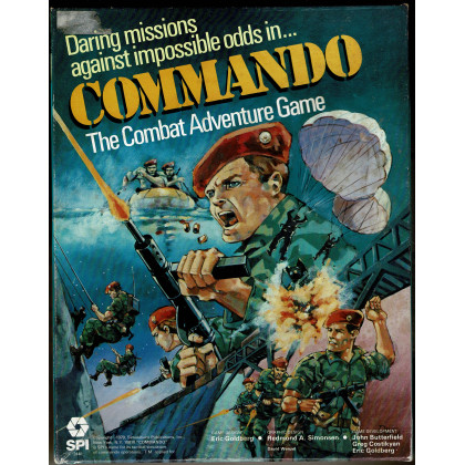 Commando - The Combat Adventure Game (wargame SPI en VO) 001