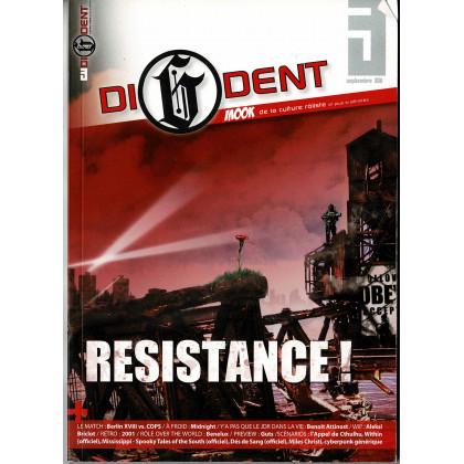 Di6dent N° 3 (magazine de jeux de rôle et de culture rôliste) 001