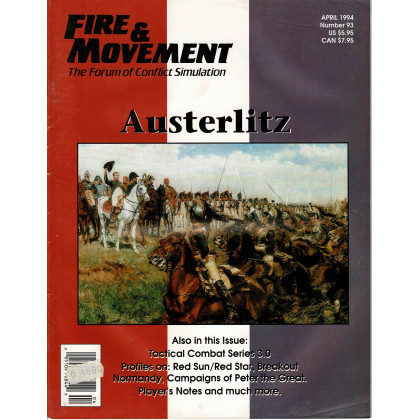 Fire & Movement 93 (magazine de wargames en VO) 001