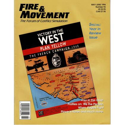 Fire & Movement 94 (magazine de wargames en VO) 001