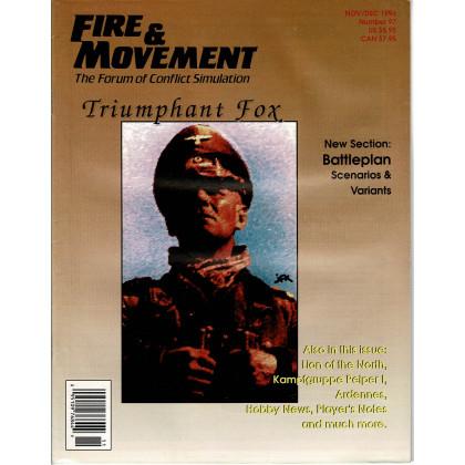 Fire & Movement 97 (magazine de wargames en VO) 001