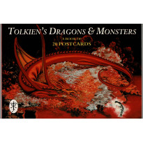 Tolkien's Dragons & Monsters - A Book of 20 Postcards (carnet de cartes postales couleur en VO) 001