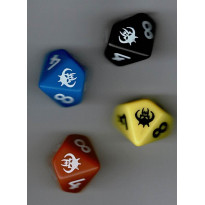 Shaan Renaissance - Set de 4 dés à 10 faces spéciaux (jdr d'OriGames en VF) 001
