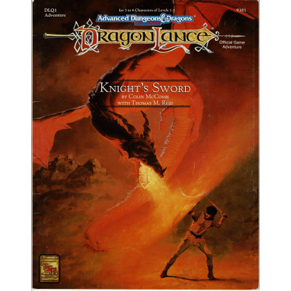 Dragonlance - DLQ1 Knight's Sword (jdr AD&D 2e édition en VO) 001
