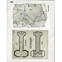 Anathazerïn - Lot de Plans & goodies de la souscription (jdr Chroniques Oubliées Fantasy en VF)