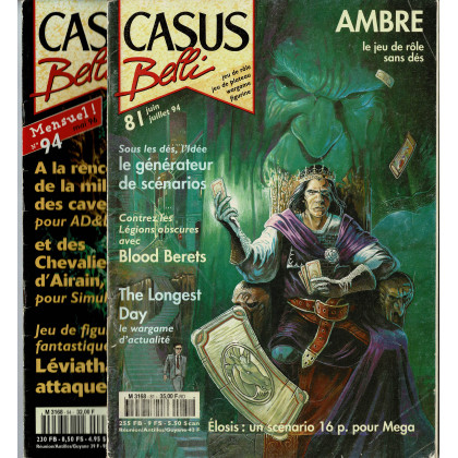 Lot Casus Belli N° 81-94 sans encarts (magazines de jeux de rôle) L133
