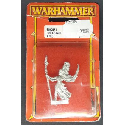 Sorcière Elfe Sylvain à pied (blister de figurine Warhammer) 001