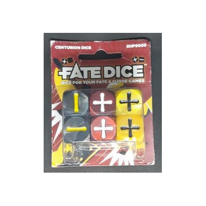 Fate Dice - Set de 12 dés Centurion Dice (blister d'Evil Hat Productions en VO) 001