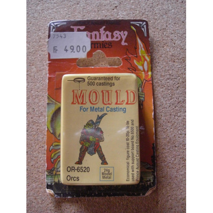 OR-6520 Orcs - Mould for Metal Casting (moule de figurines en plomb Prince August) 001