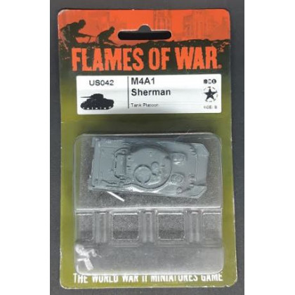 US042 - M4A1 Sherman (blister figurine Flames of War en VO) 001