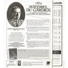 Matériel du Gardien (jdr L'Appel de Cthulhu 5e édition en VF)